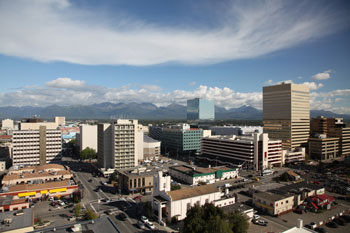 Photo of downtown Anchorage, Alaska